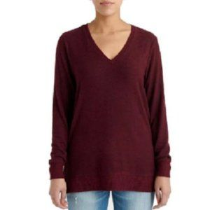 Lucky Ladies' V-Neck Tunic, Red, Large New